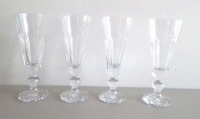 Waterford Crystal Parfait Or Sundae Glasses Set Of Four (4) Used