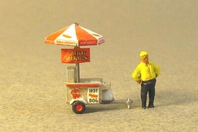 N Scale Bart's Hot Dog Cart Kit for Model Railroad Hobby by CenturyFoundry (526)