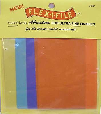 Albion Alloys 802 - Flex-i-File #802 Assorted Wet & Dry Abrasive Sheets 100 x 75