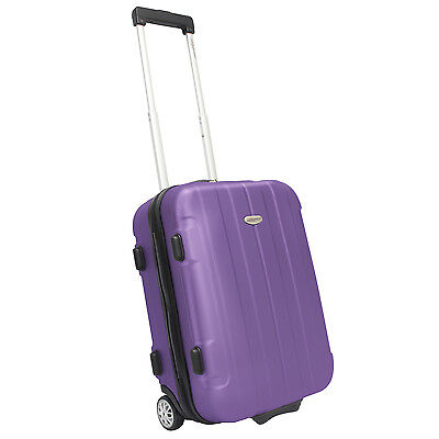 """Traveler's Choice Rome 20"""" Purple Carry-on Lightweight Rolling Luggage Suitcase"""