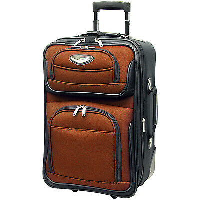 "Travel Select Orange Amsterdam Carry-on 21"" Expand Rolling luggage Suitcase Bag"