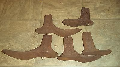 Collection Set Cast Iron Shoe Cobbler Maker Form Tool 1 2 3 6 7 Ladies Mold Lot