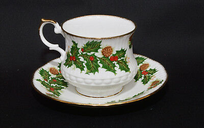 Queen's/Rosina China Yuletide Cup and Saucer