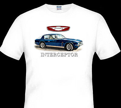 Jensen  Interceptor     White T-Shirt  Men's Ladies Kid's Sizes