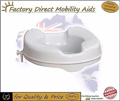 "Clip On Toilet Seat Raiser 2"" 50mm Without Lid"