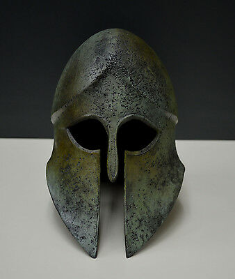Helmet bronze aged Cornthian solid type artifact collectible ancient replica