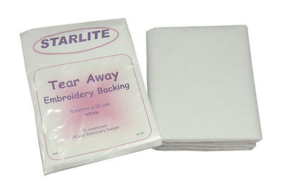 STARLITE (TEAR AWAY) EMBROIDERY BACKING STABILISER 5 mtrs x 90cms-1st Class Post