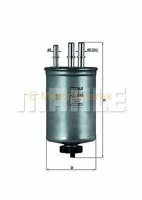 MAHLE ORIGINAL Fuel filter Ford Mondeo Diesel (TDCI) KL446