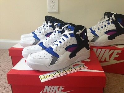 Nike Air Flight Huarache PRM QS OG white/black lylon blue