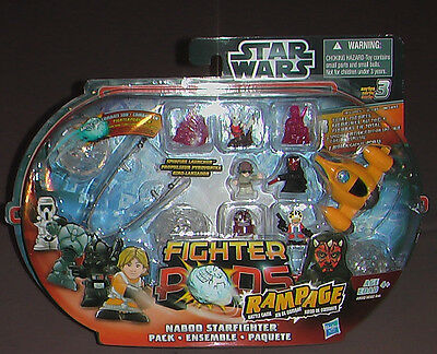 Hasbro Star Wars Fighter Pods Ranoage Series 3 Naboo Fighter Action Figure NIB