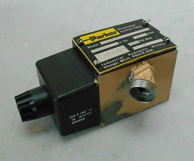 Parker Directional Control Valve, D3W1BYF, .30 Amp, Used, WARRANTY