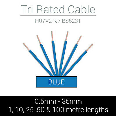 35mm Brown Single Core Cable Tri-rated Singles Panel Wire 90 Degree Per Meter
