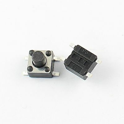 100Pcs Momentary Tactile Tact Push Button Switch 4 Pin SMT SMD 4.5x4.5x5mm