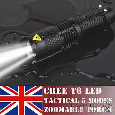 2000LM CREE T6 LED Adjustable Focus Flashlight Torch Zoomable Military /Outdoor