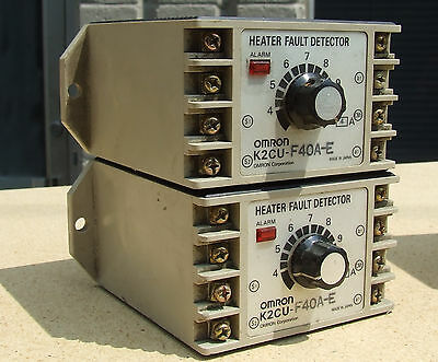 LOT SET of 2 Omron K2CU-F40A-E Heater Fault Detector Units with alarm f