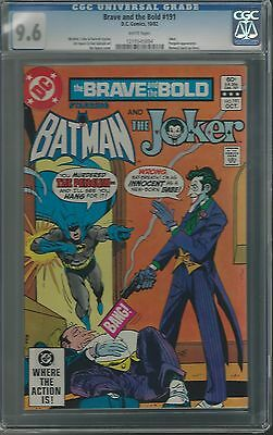 Brave And The Bold #191 Cgc 9.6 Nm+ Joker Cover