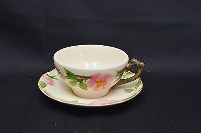 A Set of 7 Franciscan Desert Rose - USA Backstamp Cups and Saucers.