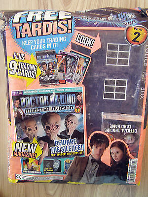 Doctor Who Monster Invasion Part.2 Magazine Trading Card Set Mask Tardis Holder