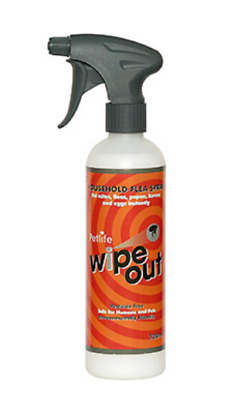 Wipe-Out Flea Spray  500ml insecticide-free household spray against fleas, lice