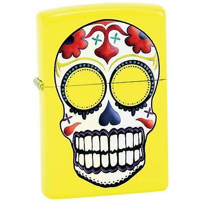 Day of the Dead Skull Yellow ZIPPO LIGHTER 24894 Refillable Windproof Cigarette