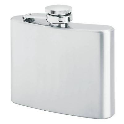 New Silver 4 Oz FLASK Stainless Steel Screw Cap Hip Pocket Liquor Whiskey Drink