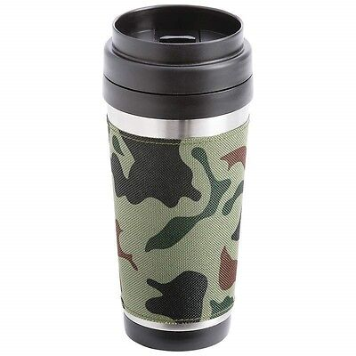 New 16oz CAMO COFFEE TRAVEL MUG Stainless Steel Camouflage Double Wall Tumbler