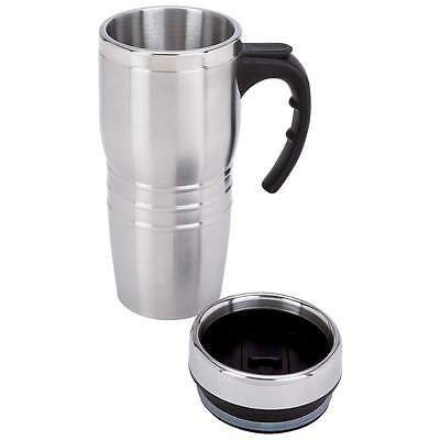 New 16oz Insulated COFFEE TRAVEL MUG Stainless Steel Double Wall Thermos Tumbler