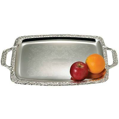 LOT of 10 SILVER Finish Oblong Serving Trays Wedding Catering Party Tray Platter