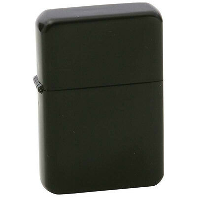 New LIGHTER Black Matte Chrome with Box Windproof Cigarette Torch Flame Refill