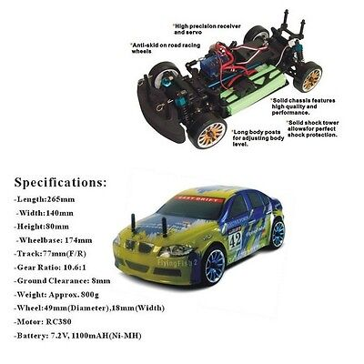 HSP 94163 1/16th scale on road drifting Car 1:16 Model Spare Parts (1)