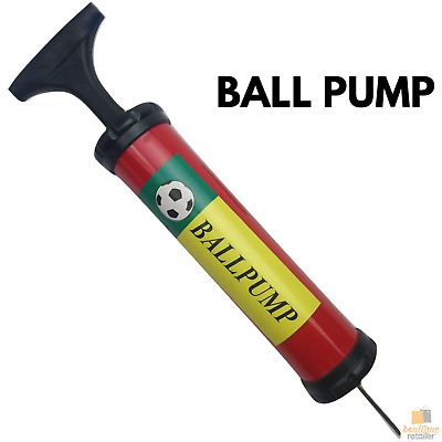 BALL PUMP Air Inflator Soccer Basketball Football Needle Yoga Fitness Portable