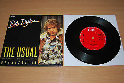 "BOB DYLAN The Usual 7"" RARE NR MINT 1987 UK PIC SLEEVE CBS 651148 7"