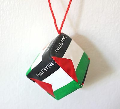"New Car Hanging Palestine Flag Ornament - Cubic Palestinian Flag: 2"" x 2"" x 2"""