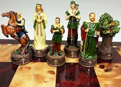 MEDIEVAL TIMES ROBIN HOOD set of chess men pieces NEW - NO BOARD