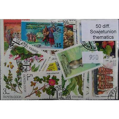 50 different Russia thematic stamps (950)
