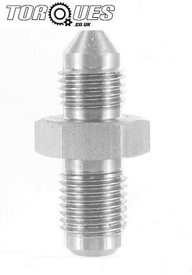 "AN -3 (3AN) Male to Male Concave Union 3/8"" x 24 UNF Stainless Steel Adapter"