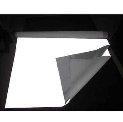 "Silver Reflective Fabric Sew Silver Black On Material 3'x39"" 1Mx1M #B07"