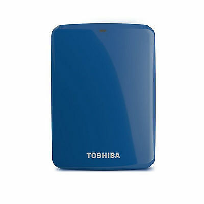 Toshiba Canvio Connect Portable External Hard Disk Drive HDD USB3.0 / 1TB Blue