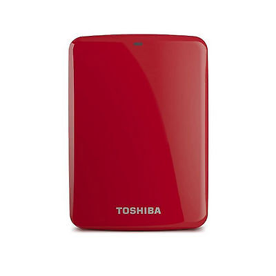 Toshiba Canvio Connect Portable External Hard Disk Drive HDD USB3.0 / 1TB Red