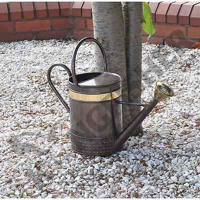5L Vintage Style Metal Garden Watering Can With Fold Down Handle