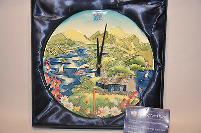 """Gifts Old Tupton Ware """"LAKELAND"""" Wall Clock Collectable New Boxed"""