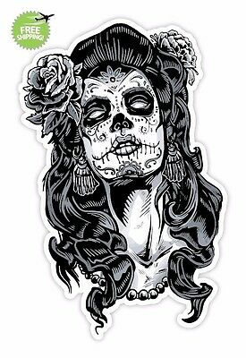 """Sugar Skull Day of the Dead Sticker Decal ( 4"""", 5"""", 6"""" SAME PRICE ALL SIZE ) #3"""