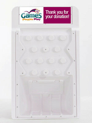 White Dynamic Donation Box Great For Fundraising Tradeshows Games Retail Stores