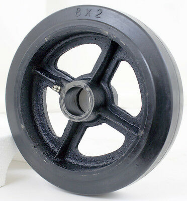 "8"" X 2"" (8x2) Hard Rubber on Cast Wheel Scaffolding Caster Replacement Wheel"