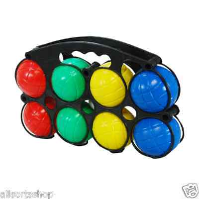New 8 Lawn Boules. Coloured Plastic Boule Garden Game