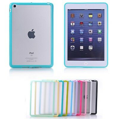 Bumper Transparent Soft Skin Back Case Cover Protector For Apple iPad Mini 3 2 1