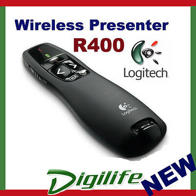 Logitech Wireless Presenter R400 Red Laserpointer 2.4GHz 15 meters range