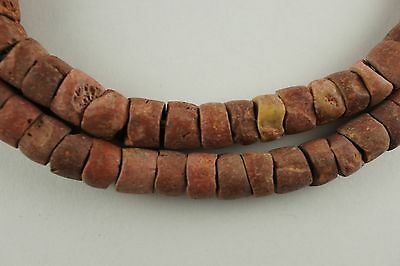 "26"" strand bauxite stone trade beads unique tribal spacers African unique old"