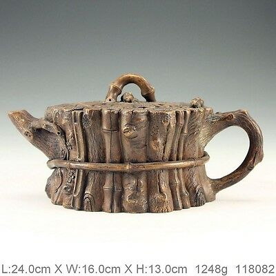 Chinese Rock Stone Hand Carved Rare Teapot K118082
