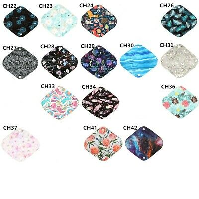 3 Panty Liners CHARCOAL Bamboo Reusable Cloth Mama Menstrual Pads Soft 8inch S